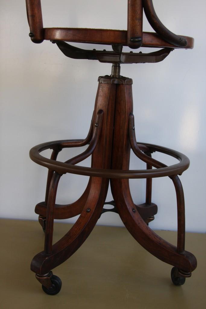 Vintage industrial adjustable draftsman wood swivel