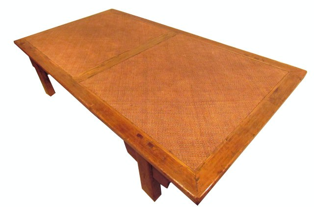 A Very Large Low Antique Style Japanese Style Rustic Teak Coffee Table