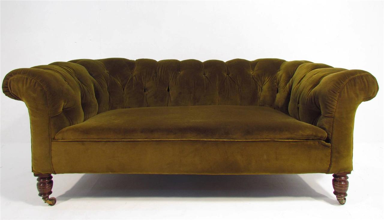 An Antique 19 Th C Deep Seated Chesterfield Sofa Ebay