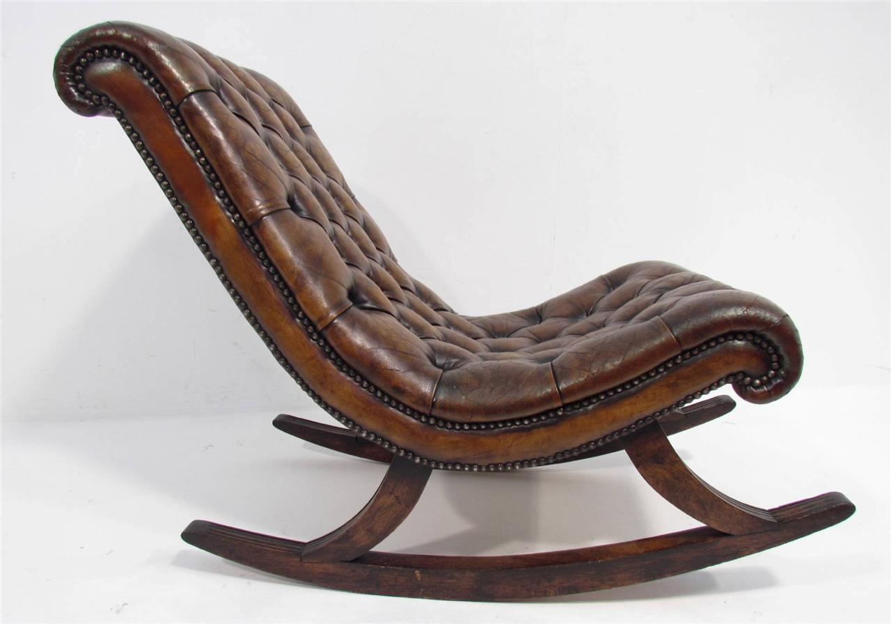 Good Antique Chesterfield Rocking Chair eBay