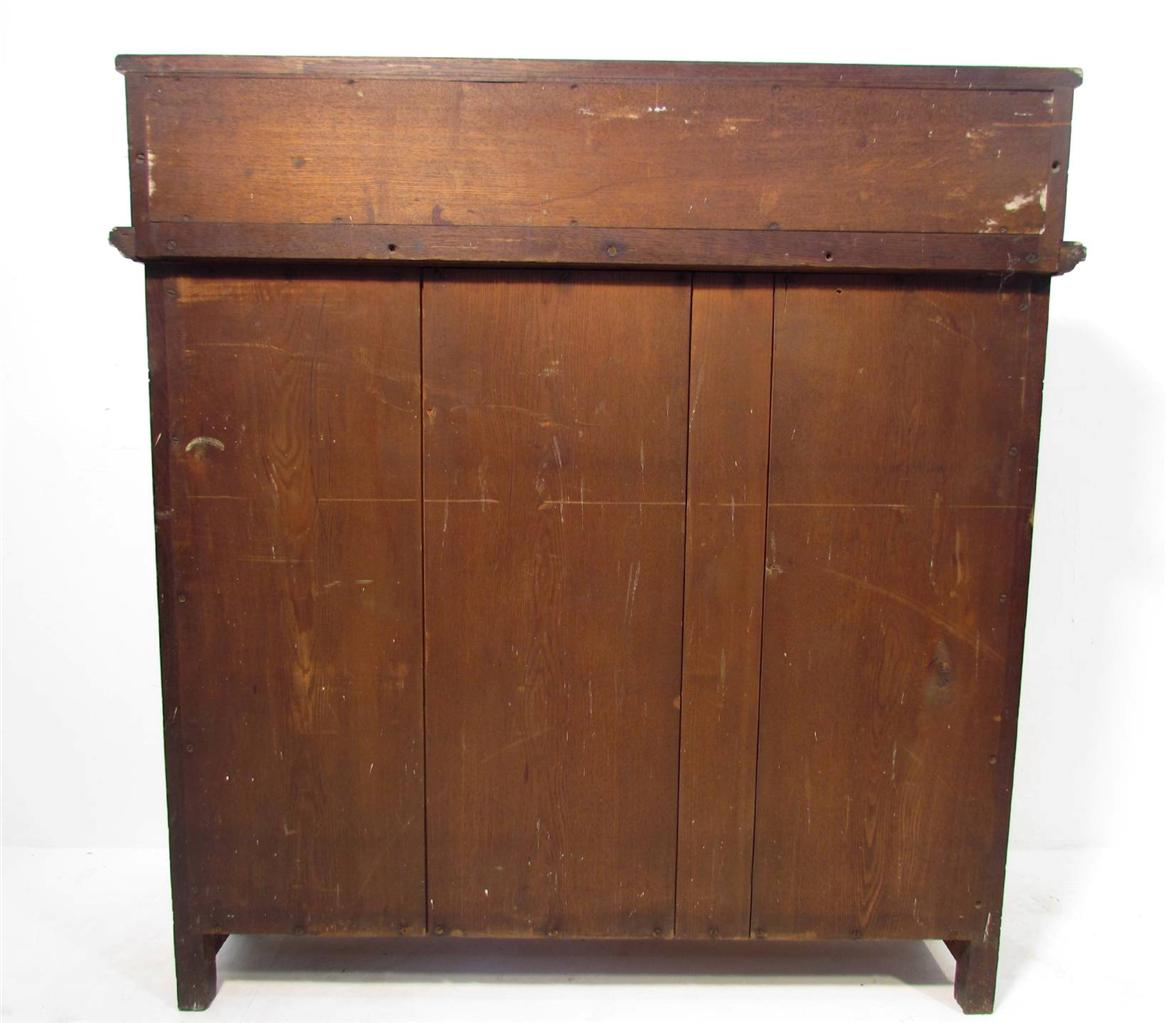 Kitchens Oak Cabinets Arts Crafts Kitchen Oak Cabinets: A Good Antique Arts And Crafts Solid Oak Display Cabinet