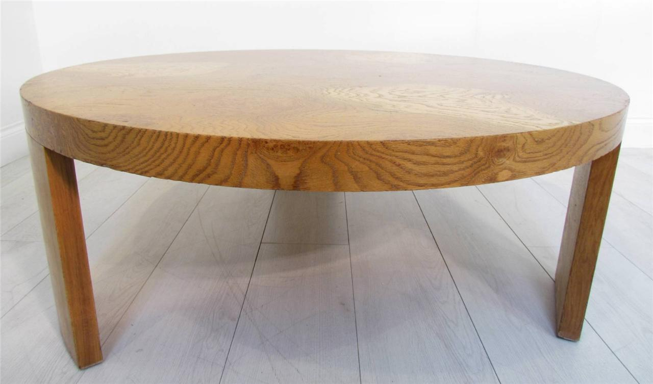A Good Light Solid Pollard Oak Round Coffee Table Ebay