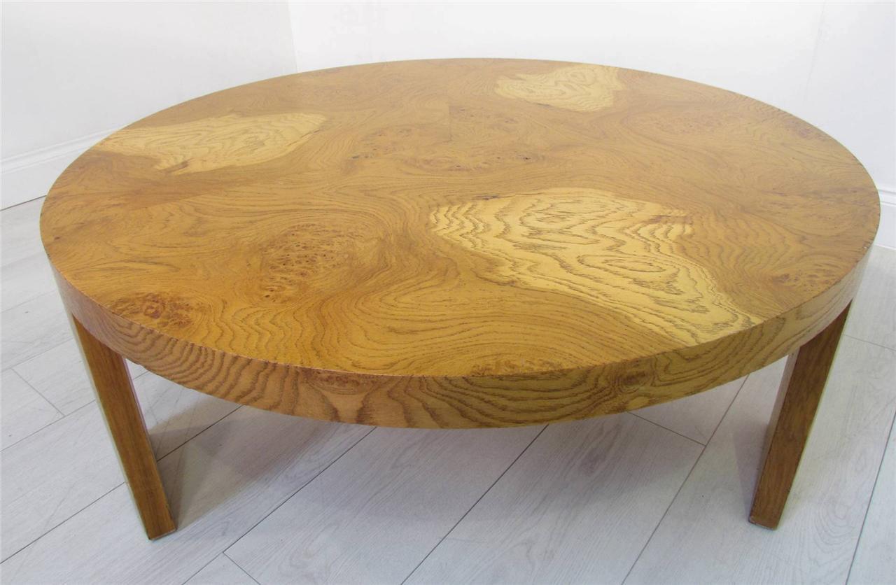 A Good Light Solid Pollard Oak Round Coffee Table Ebay