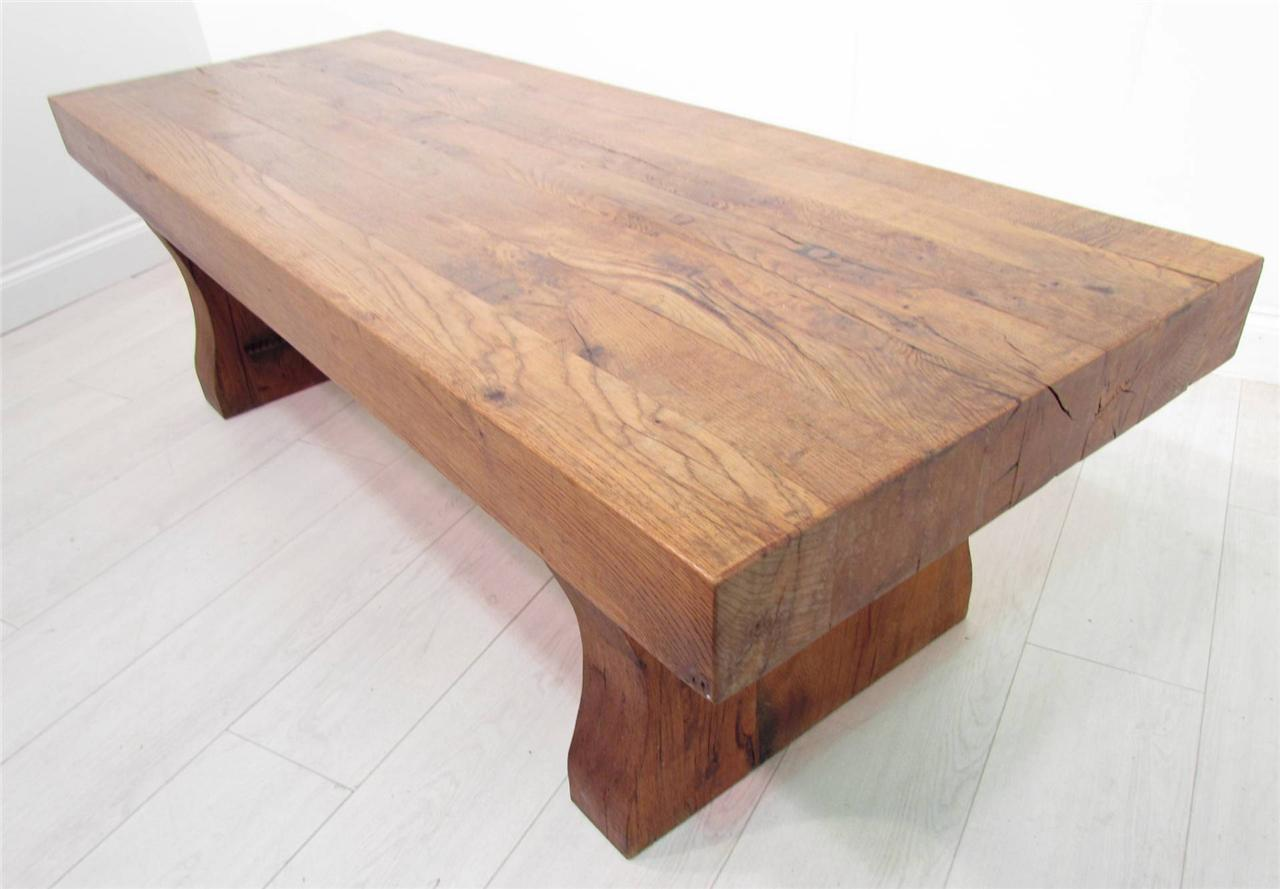 A Rustic Antique Effect Coffee Table Made From Solid Oak Ebay