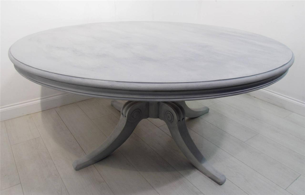 A large 5ft diameter antique painted round table ebay for 5ft coffee tables