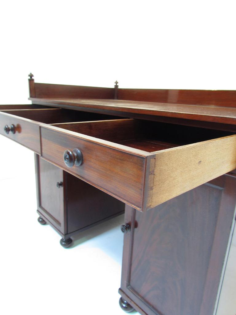 An Exceptional Antique 19 C Flamed Mahogany Galleried Top Desk  eBay