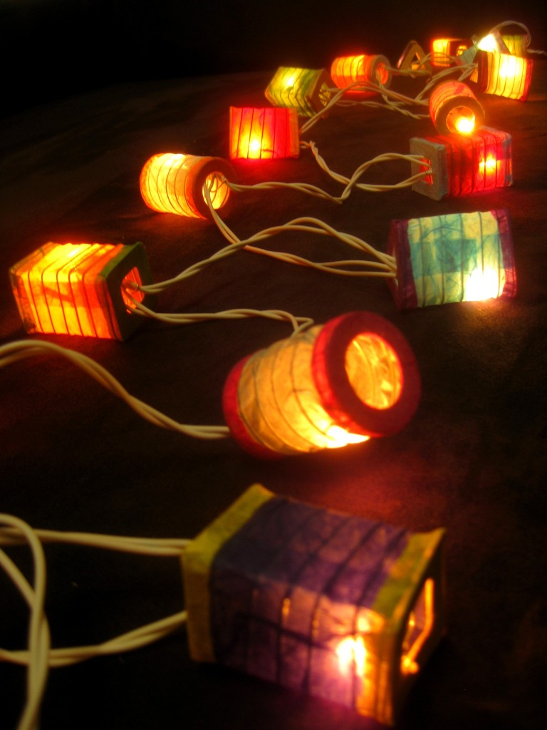 How To Make String Lights Battery Powered : 20 MULTICOLOURED Battery Operated Mini Chinese LED String Paper Lanterns Lights eBay