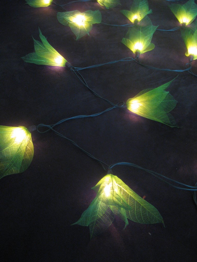Green Flower String Lights : 20 GREEN Battery Powered Star Flower LED String Fairy Lights Christmas Decor NEW