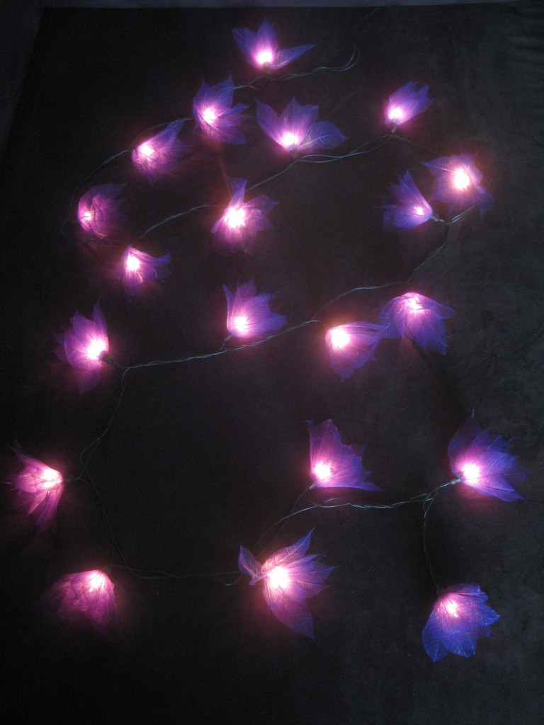 20 PURPLE Battery Operated Star Flower LED String Fairy Lights Party Decor Gift eBay
