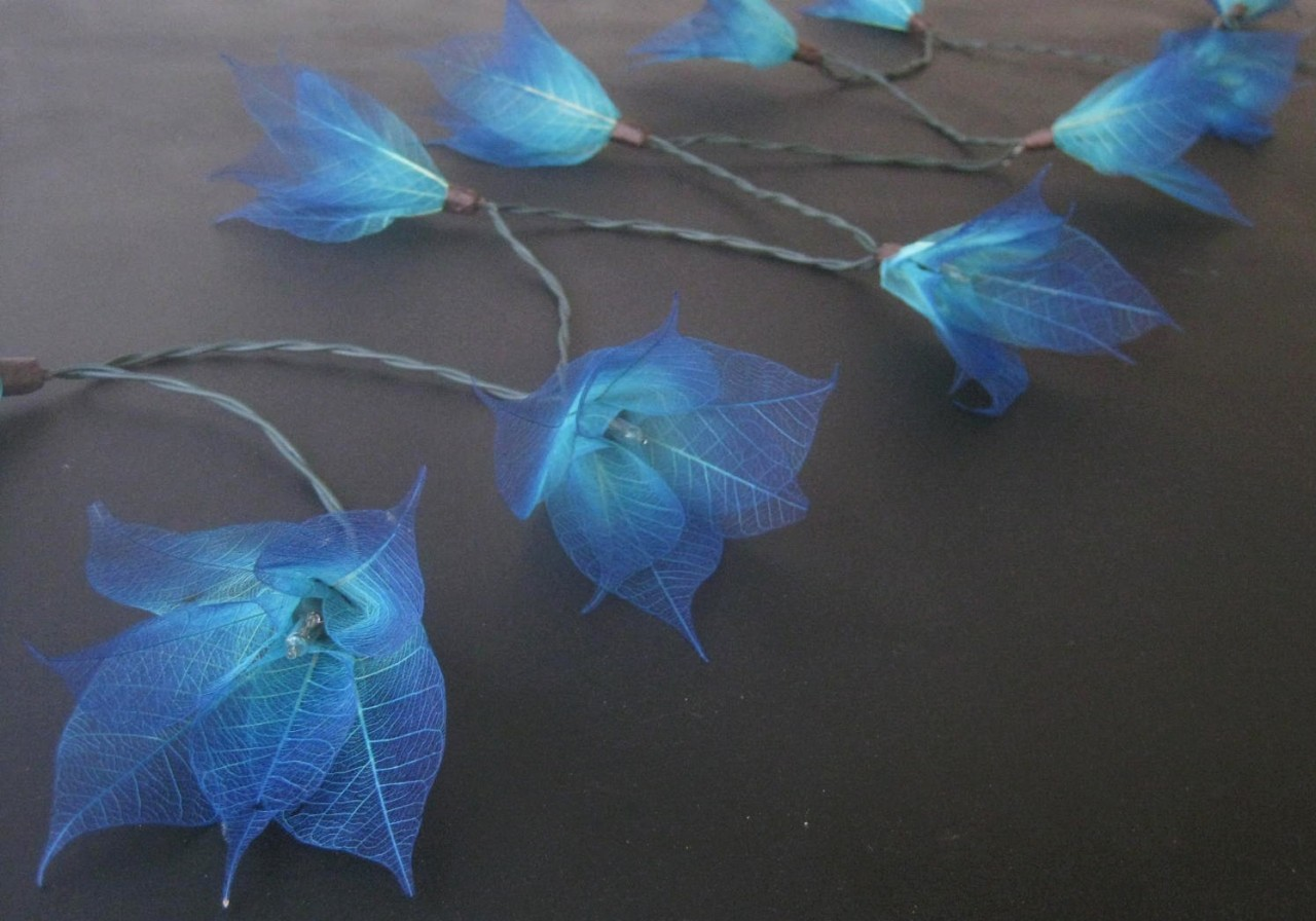 20 BLUE Star Flower BATTERY Powered LED String Fairy Lights Lanterns Party Gift eBay