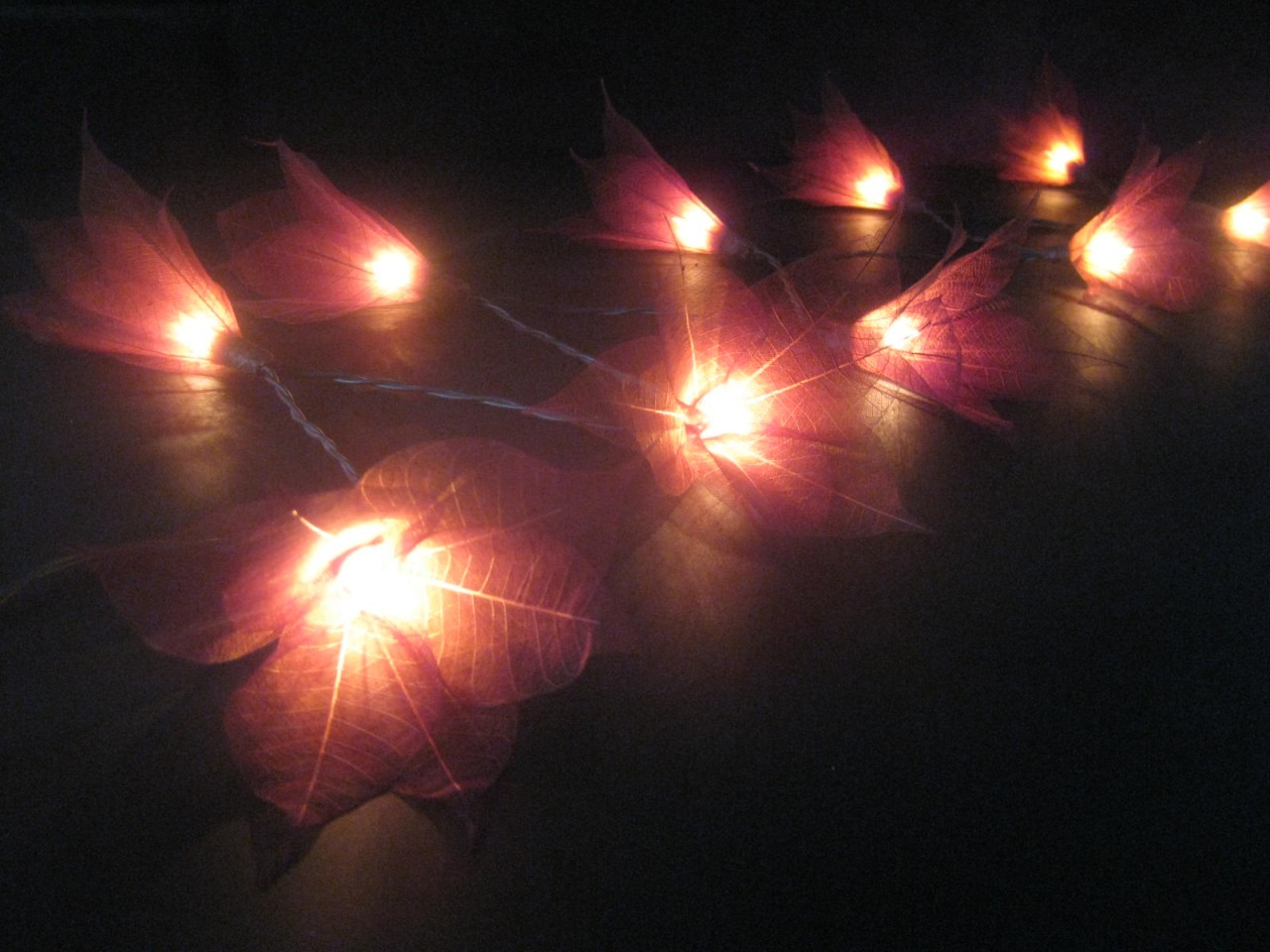 20 brown battery operated star flower led string fairy lights home patio decor ebay. Black Bedroom Furniture Sets. Home Design Ideas