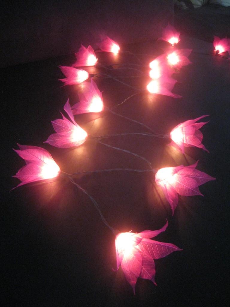 35 PINK Star Flower 5M LONG LENGTH String LED Fairy Lights Childrens Nightlight eBay