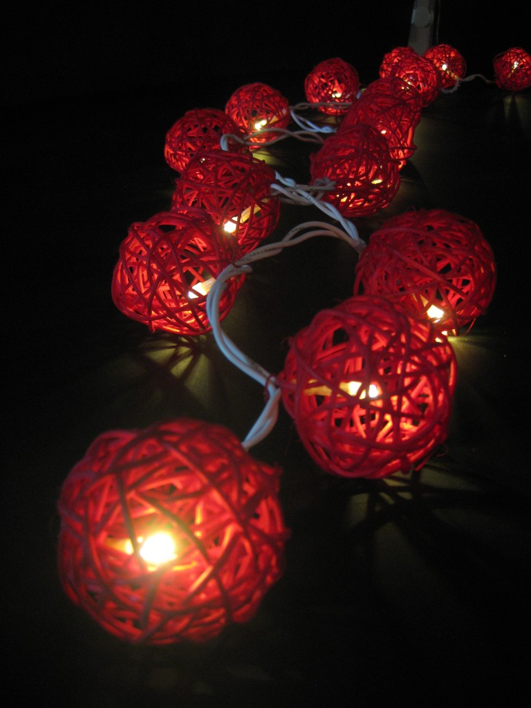35 RED Wicker Rattan Ball 5M LED String Fairy Lights Lanterns Christmas Gift eBay