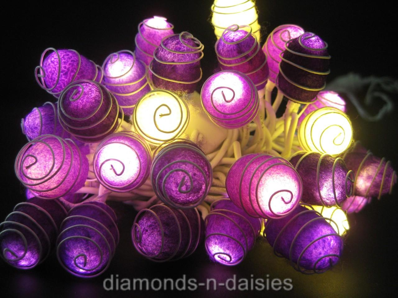 35x-PURPLE-COCOON-STRING-FAIRY-LIGHTS-Wedding-Gift