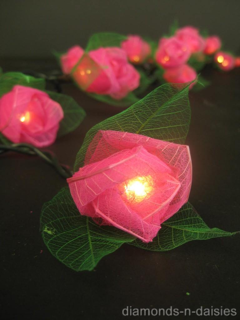 Led Rose String Lights : 20 Mini Rose Flower BATTERY OPERATED String LED Fairy Lights - 6 Colours NEW eBay