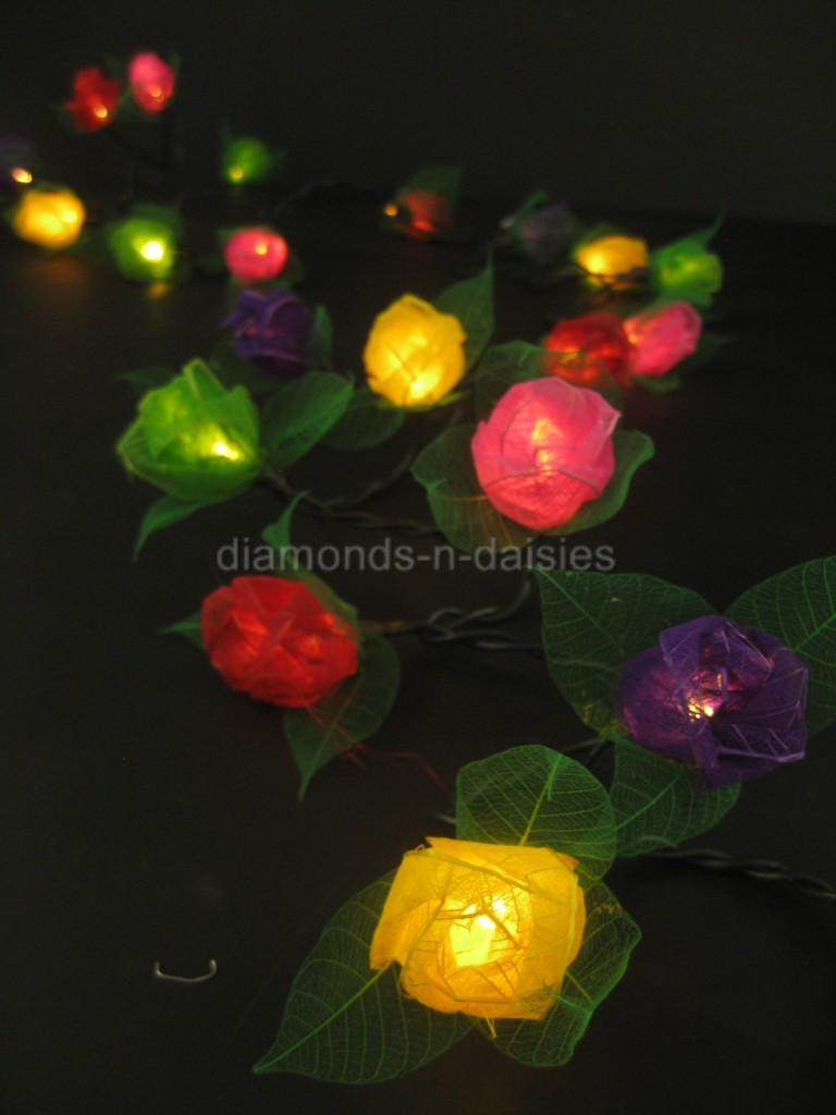 35 LED MINI ROSE FLOWER String Fairy Lights Lantern *AUSTRALIAN PLUG* 7 Colours eBay