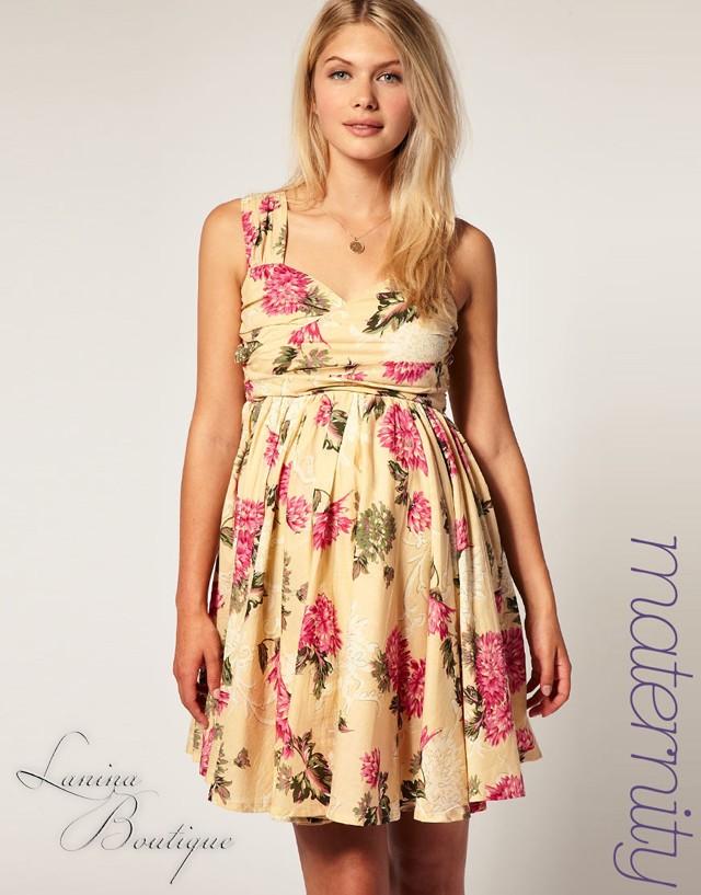 ASOS-Maternity-Floral-Twist-Bust-Forever-Sun-Dress-Sz-10-NEW-Summer-Sundress