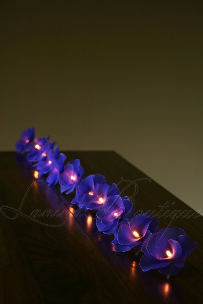 Purple Fairy String Lights : 20 BLUE Nylon Rose Flower LED String Fairy Lights Lanterns Lamps - Purple NEW eBay