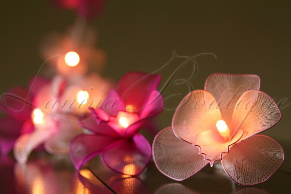 20 light dark pink mix orchid flower battery operated. Black Bedroom Furniture Sets. Home Design Ideas