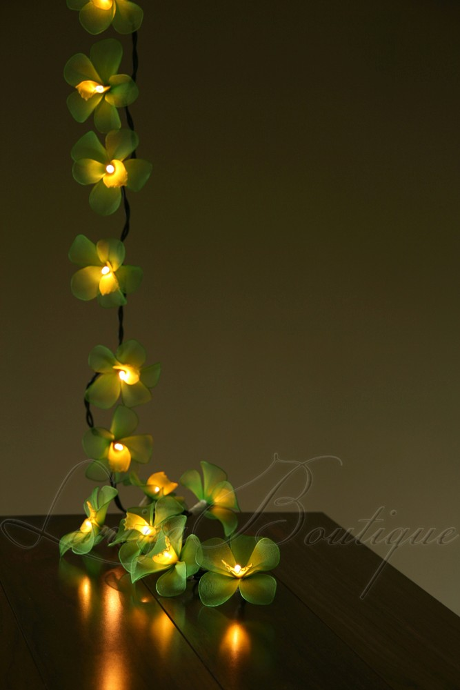 Green Flower String Lights : 35 Green Yellow Orchid Flower Long Length 5M LED String Fairy Lights Xmas eBay