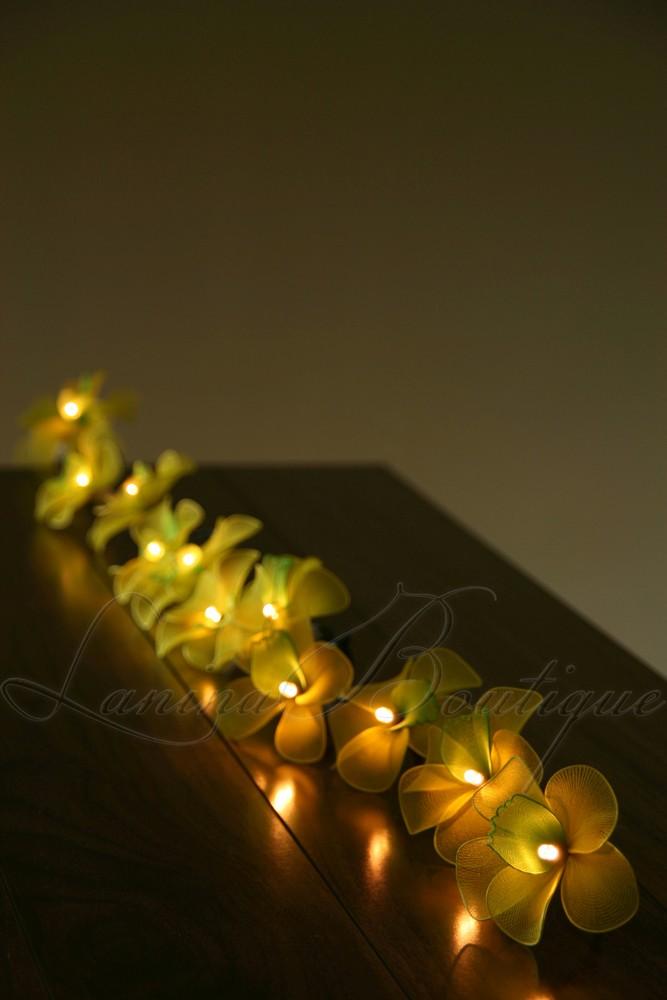 35 Yellow Green Orchid Flower Extra Long 5M LED String Fairy Lights Lanterns eBay