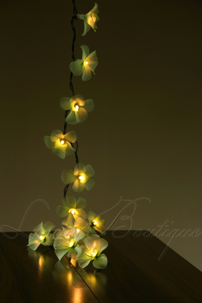 Green Flower String Lights : 35 GREEN Orchid Flower LONG LENGTH 5M LED String Fairy Lights Lantern Christmas eBay