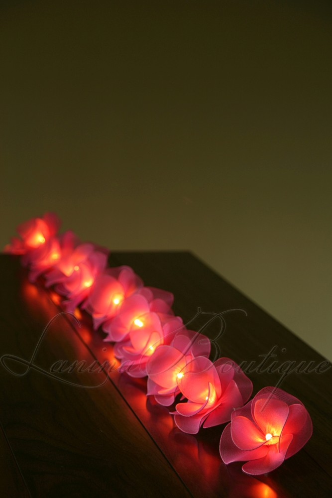 Led Rose String Lights : 20 PINK Nylon Rose Flower Battery Powered LED String Fairy Lights Valentines eBay