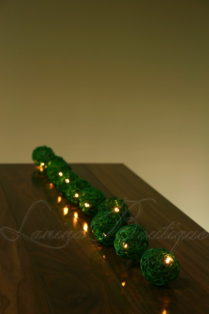 Led String Lights Long : 35 GREEN Wicker Rattan Ball LONG LENGTH 5M LED String Fairy Lights Christmas eBay
