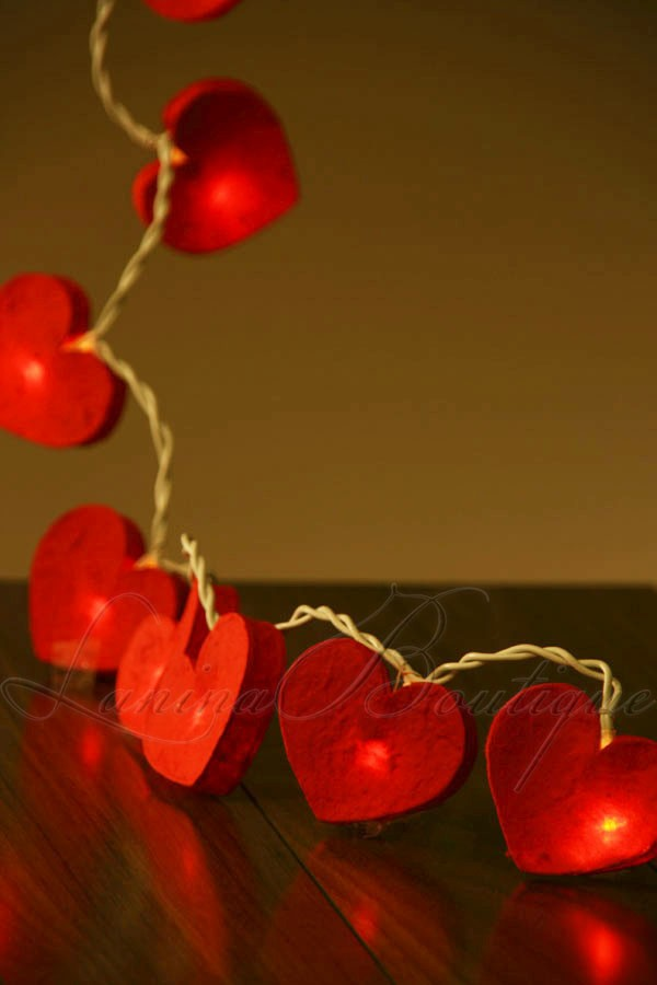 20 Romantic Red Love Heart 3M LED String Fairy Lights Wedding Valentine AUS PLUG eBay