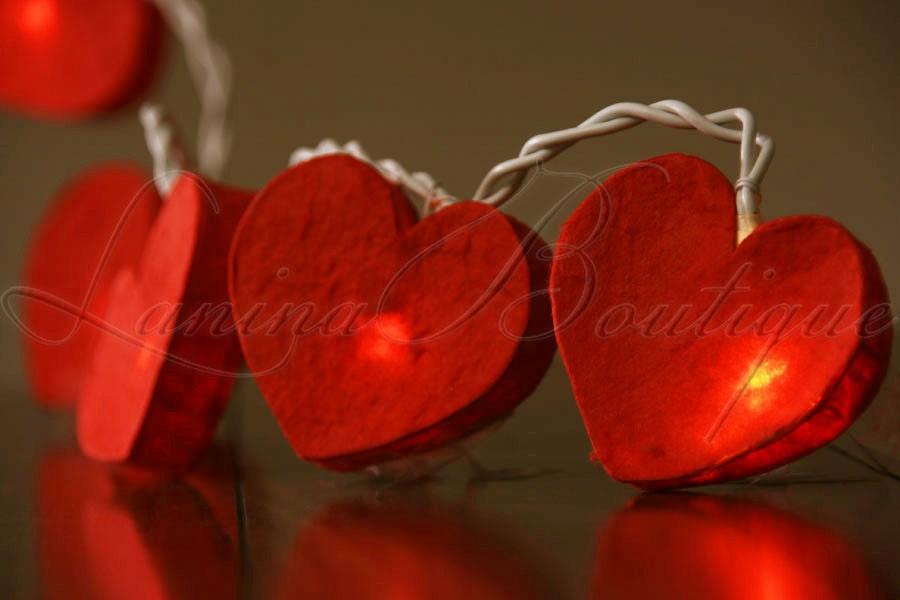 Heart String Lights Red : 20 Romantic Red Love Heart 3M LED String Fairy Lights Wedding Valentine AUS PLUG eBay