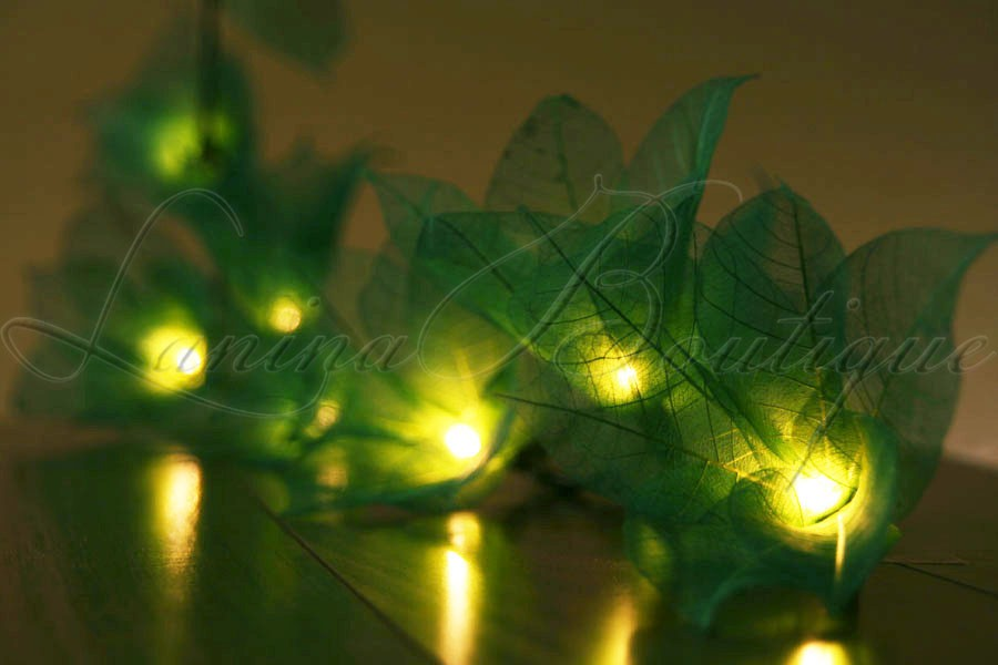 Green Flower String Lights : 20 Green Star Flower LED 4M String Fairy Lights Lanterns Christmas Gift Aus Plug eBay