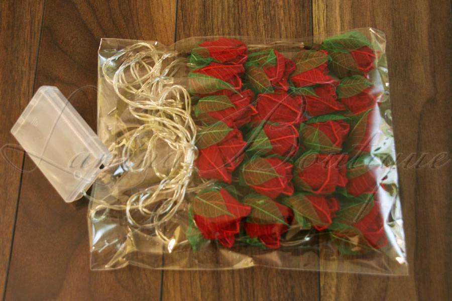 20 Mini Rose Flower BATTERY OPERATED String LED Fairy Lights - 6 Colours NEW eBay