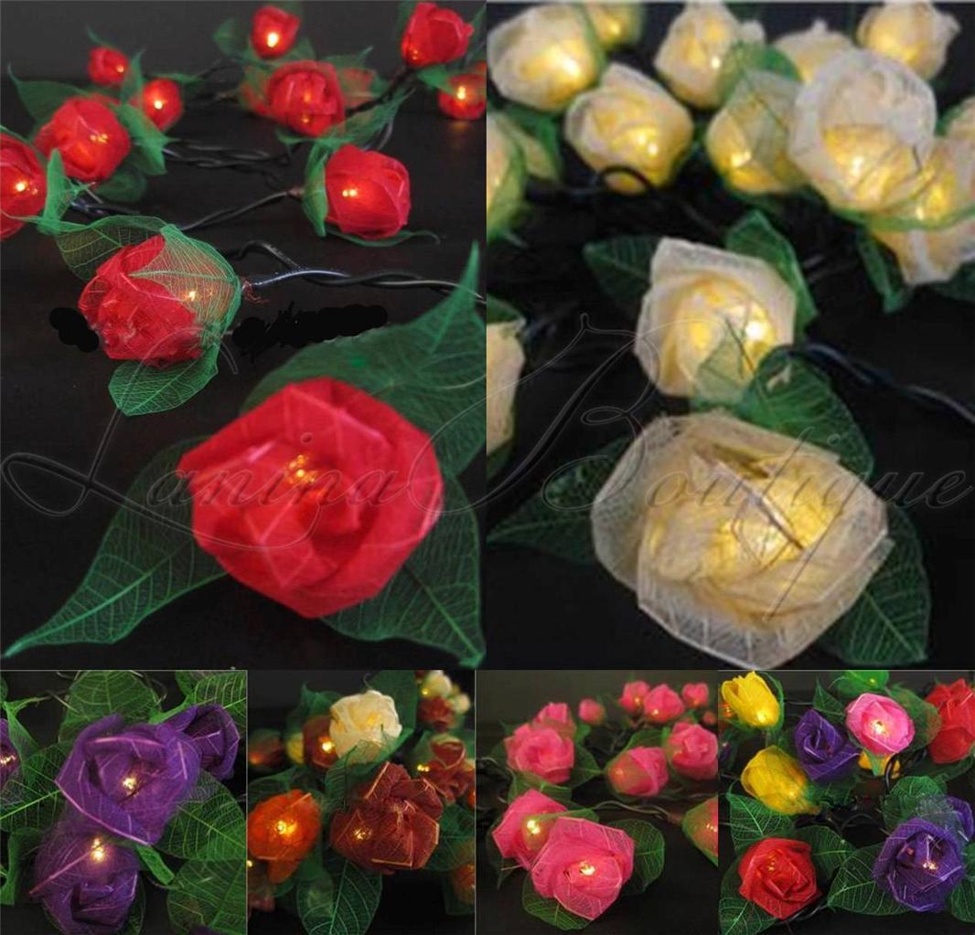 35 LED MINI ROSE FLOWER String Fairy Lights Lantern *AUSTRALIAN PLUG* 7 Colours eBay
