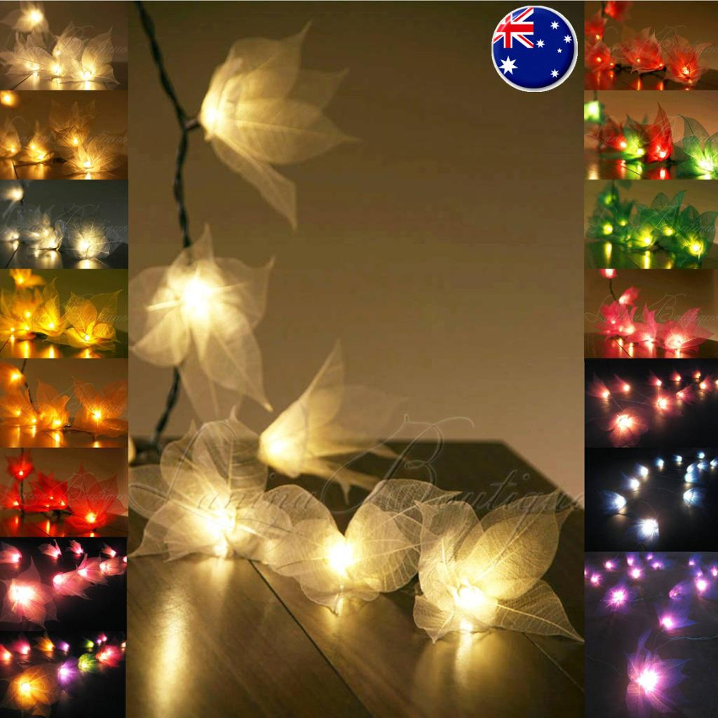 Floral Lantern String Lights : 20 or 35 STAR FLOWER LED String Fairy Lights Lantern AUS PLUG Wedding Decor eBay