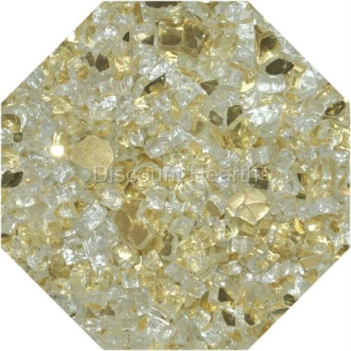 Gold Reflective 1 4 Fireglass Fire Glass Fire Pit