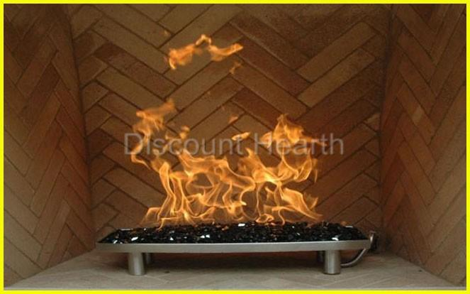 """22"""" 30"""" Stainless Steel Oval H Burner Island Fire glass ..."""
