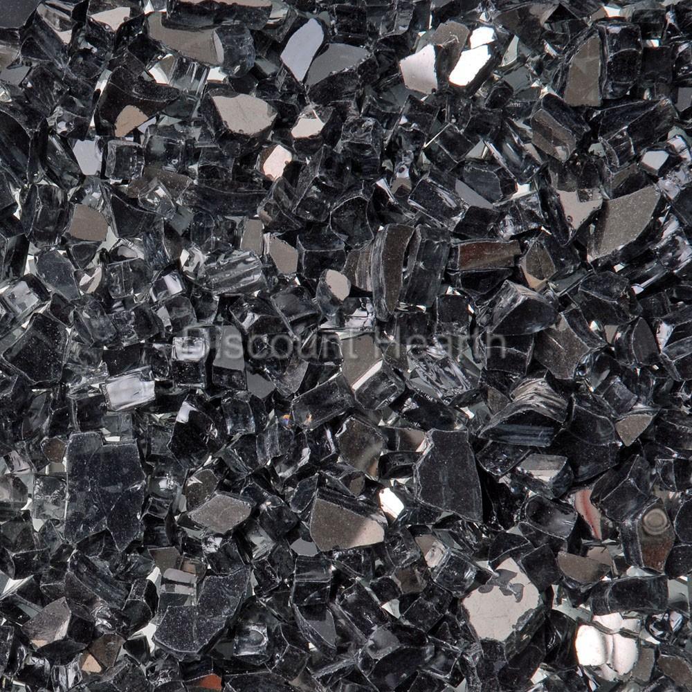 black reflective 1 4 quot 1 120 lbs fireglass glass