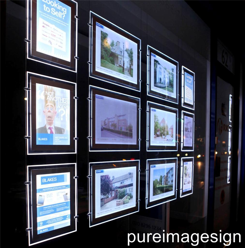 A3 3 pieces led window light pocket light panel estate for Window lights