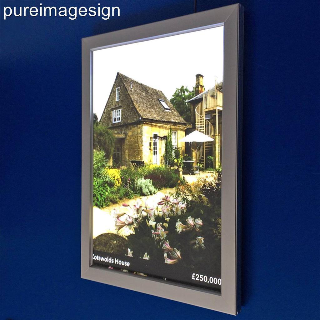 A3 led luce scatola illuminato espositore poster cornice for Cornice poster 61x91
