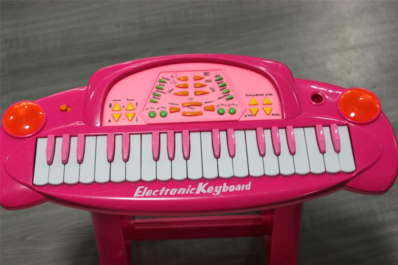 kinder piano spielzeug klavier baby keyboard mikrofon hocker ebay. Black Bedroom Furniture Sets. Home Design Ideas