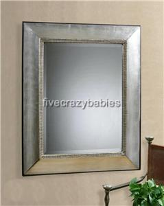 50 Extra Large Silver Leaf Wall Floor Mirror Mantle Designer Horchow