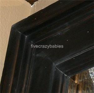 XL Extra Large Masculine Dark Wood Wall Mirror 70 Oversize Mahogany
