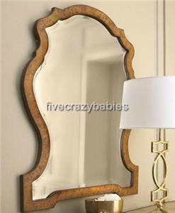 Extra Large Kaydence Shaped Arch Wood Wall Mirror XL Horchow Curved