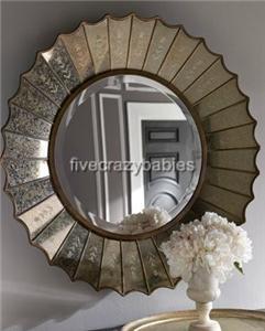 Venetian Sunburst / Starburst Wall Mirror Extra Large Gold Antique New