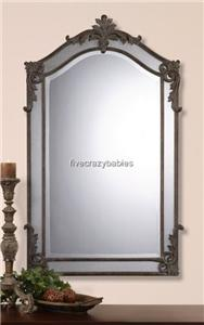 Baroque Extra Large Arch Top Wall Mirror  Antique Luxe