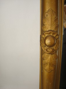 ANTIQUE FEDERAL MIRROR WITH REVERSE PAINTED GLASS 1800s