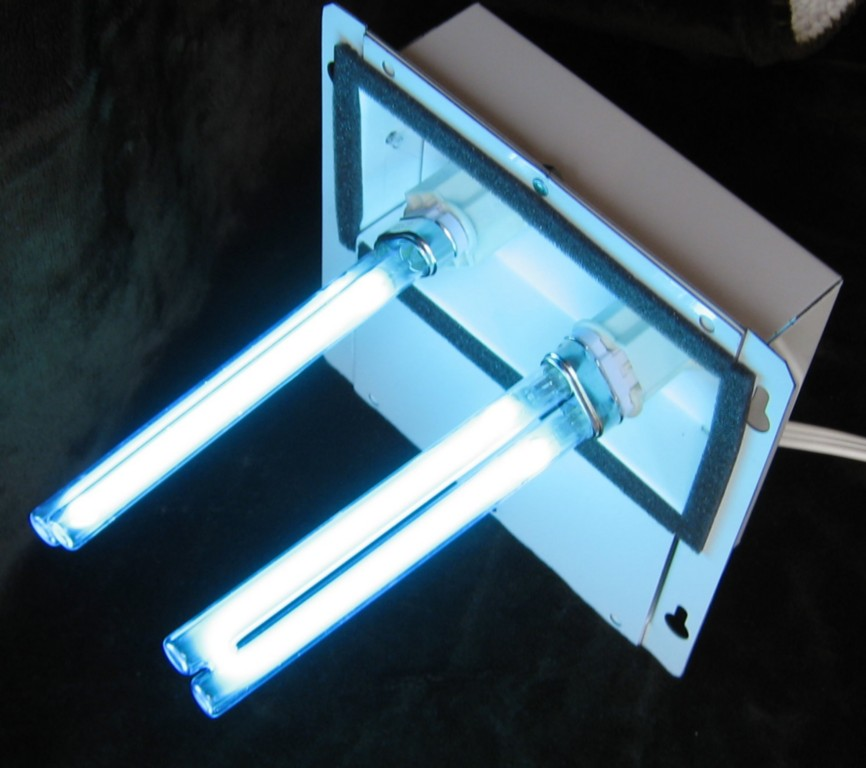 uv light for home furnace air ducts sterilizes a c cleaner purifier. Black Bedroom Furniture Sets. Home Design Ideas