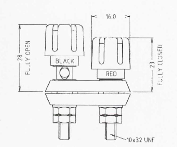 binding post terminal dual type accepts banana  u0026 spade connectors  u0026 bare cables