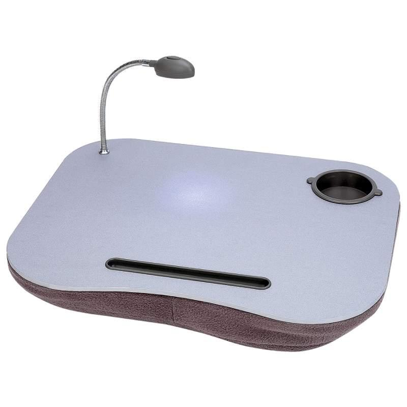 PORTABLE LAPTOP DESK PAD WITH LIGHT CUP PEN HOLDER NEW | eBay