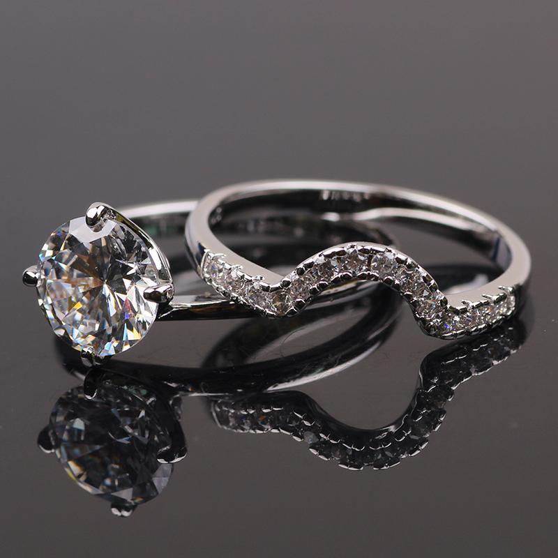 ring 24k white gold filled womens wedding